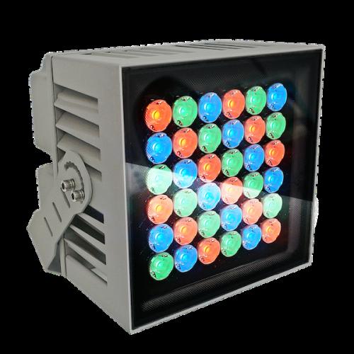 ветильник куб, кубик, прожектор, Led прожектор, 24W,24 Вт, RGBW прожектор, КПИ прожектор, уличный прожектор, Spot, подсветка колонн, подсветка домов, узколучевой уличный прожектор, направленный уличный прожектор, подсветка флага, подсветка памятников, управляемый узколучевой прожектор. управляемый направленный прожектор, прожектор 10 градусов, Ondelight ARC CUBO M RGBW RGBW DMX512 RDM направленный управляемый архитектурный узколучевой прожектор spot для подсветки колонн домов архитектуры ландшафта деревьев