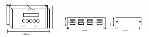 Контроллеры Art-Net-SPI/DMX 204 Серия комбинированных контроллеров управления различными типами прожекторов, светильников, SPI модулей. Помимо преобразования Ethernet-SPI контроллеры имеют выходы DMX512 XLR 3pin для подключения различных световых приборов. Тем самым на базе 204 и 216 контроллеров можно создавать большие проекты с множеством управляемых источников света. Возможность работы по протоколу Art-Net так же выбор статичного и динамического IP, поддержка основных видов SPI протоколов, протокола DMX512.