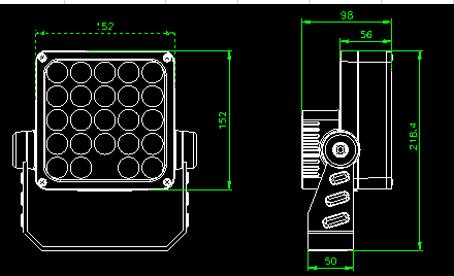 ARC CUBO M RGBW мощный прожектор 24х 1 Вт светодиодов 24 Вт, 220В.,DMX 512, RDMсветильник куб, кубик, прожектор, Led прожектор, 24W,24 Вт, RGBW прожектор, КПИ прожектор, уличный прожектор, Spot, подсветка колонн, подсветка домов, узколучевой уличный прожектор, направленный уличный прожектор, подсветка флага, подсветка памятников, управляемый узколучевой прожектор. управляемый направленный прожектор, прожектор 10 градусов,