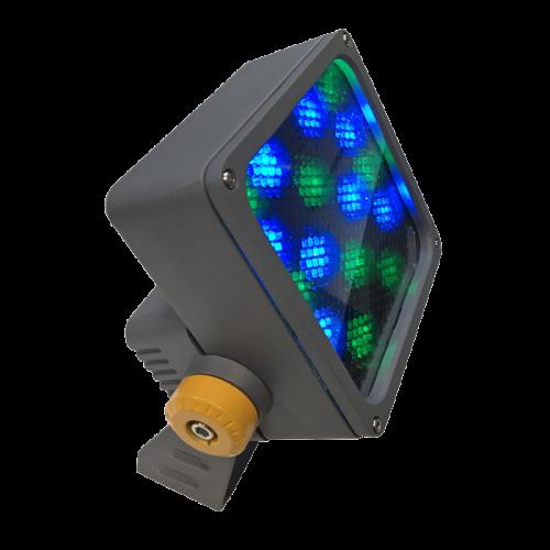 светильник куб, кубик, прожектор, Led прожектор, 24W,24 Вт, RGBW прожектор, КПИ прожектор, уличный прожектор, Spot, подсветка колонн, подсветка домов, узколучевой уличный прожектор, направленный уличный прожектор, подсветка флага, подсветка памятников, управляемый узколучевой прожектор. управляемый направленный прожектор, прожектор 10 градусов, Ondelight ARC CUBO M RGBW RGBW DMX512 RDM направленный управляемый архитектурный узколучевой прожектор spot для подсветки колонн домов архитектуры ландшафта деревьев